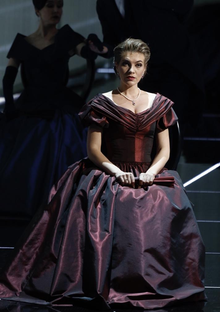 Алексей Тихомиров и Екатерина Морозова в опере «Евгений Онегин» на исторической сцене Большого театра